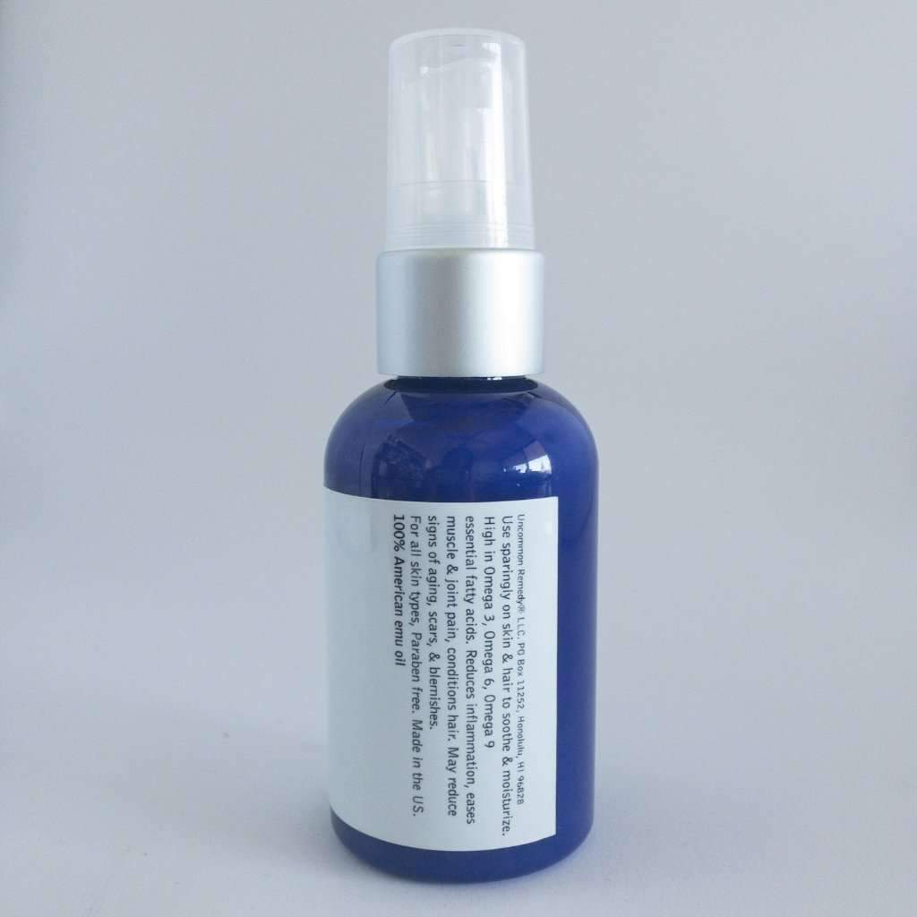 Emu Oil 100% Pure from North Dakota 2oz - uncommon remedy self care solutions for wellness