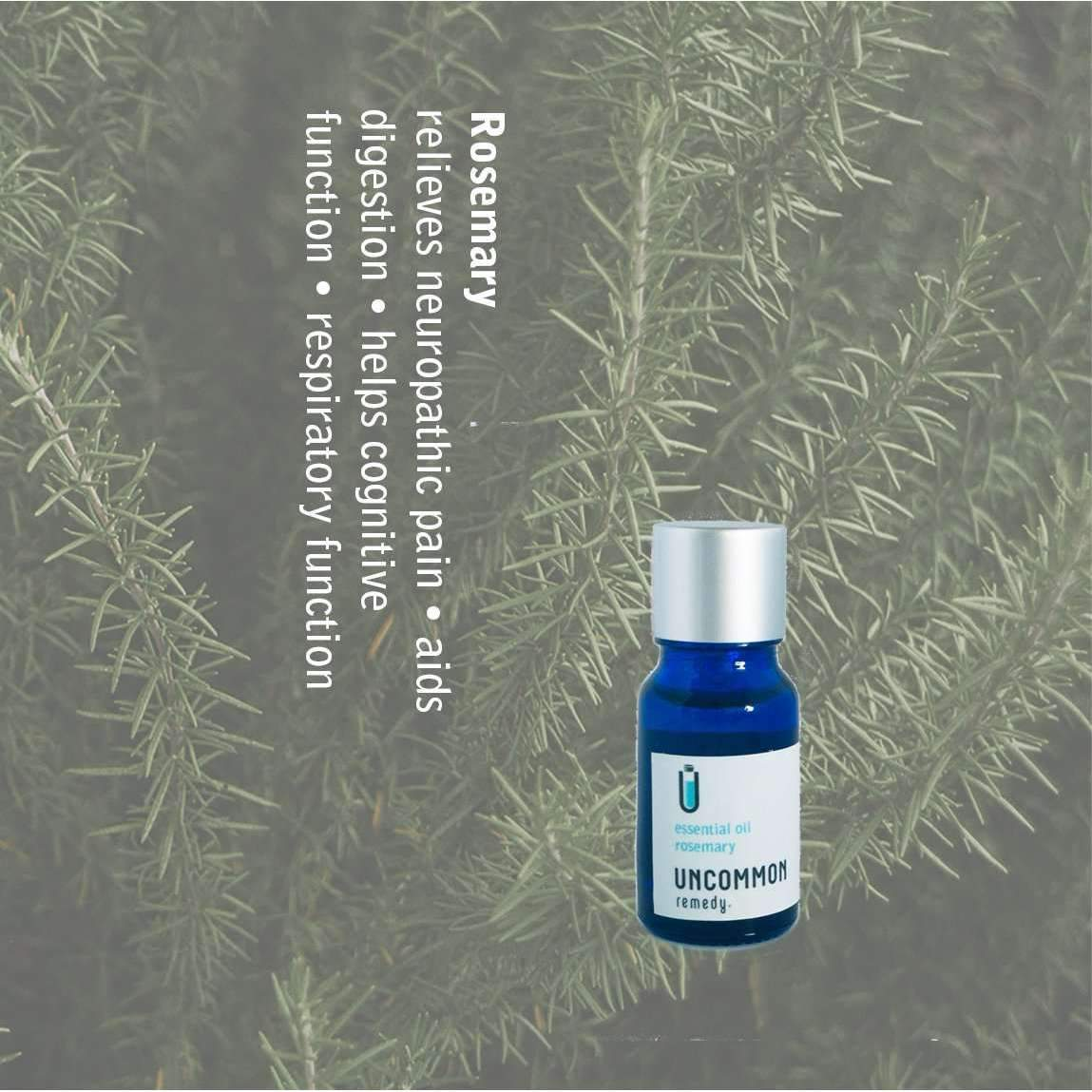 Uncommon Remedy Rosemary Essential Oil (rosemarinus officinalis) 10ml-oil-Uncommon Remedy