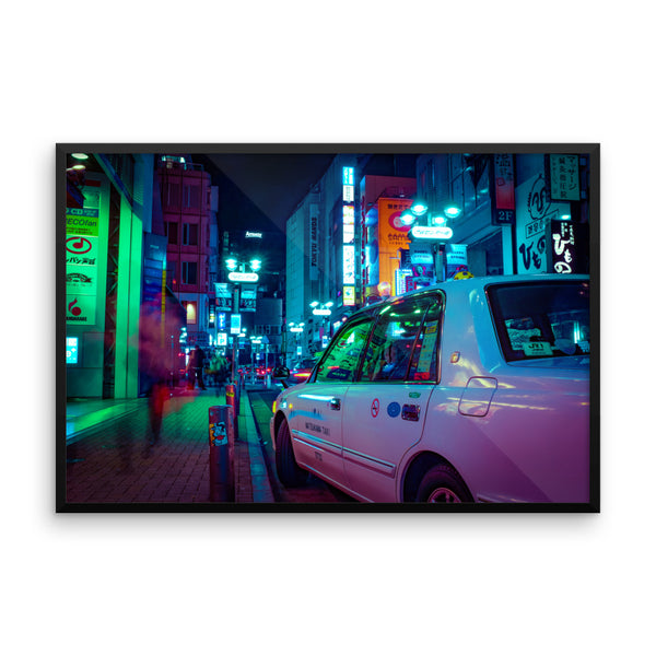 Waiting taxi - Shibuya - Spring 2018 - Framed
