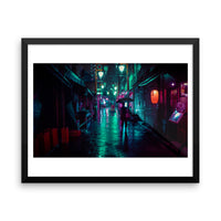 Limited edition - Rain in Koenji - Framed