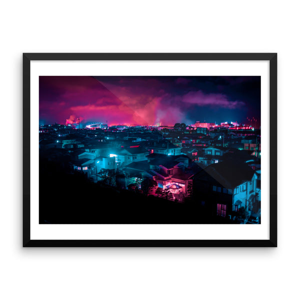 Cities glow - Framed