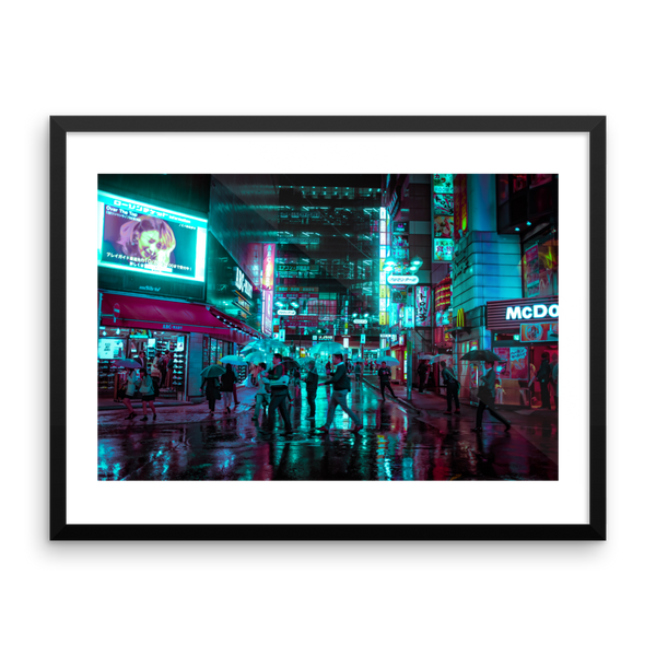 Neons in Center Gai - Limited edition - Framed