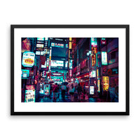 Neons in Kabukicho - Framed