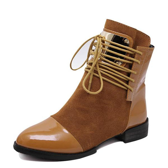 Women's Boots - Genuine Autumn Winter Martin Ankle Boots