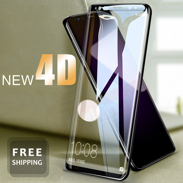 4D Full Cover Tempered Glass For Samsung Galaxy S9 S8 Plus S7 S6 Edge Note 8