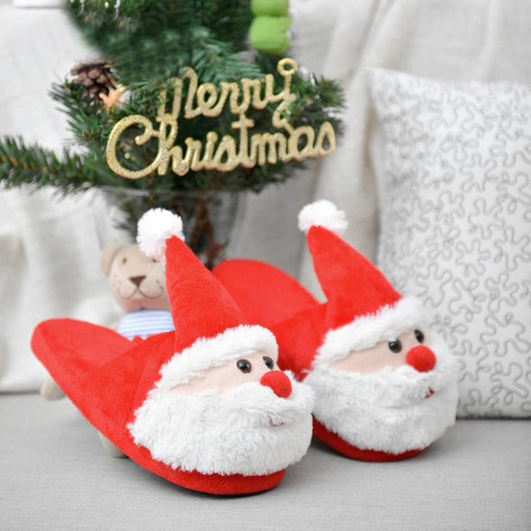New Arrival High Quality Furry Cute Santa Claus Slippers