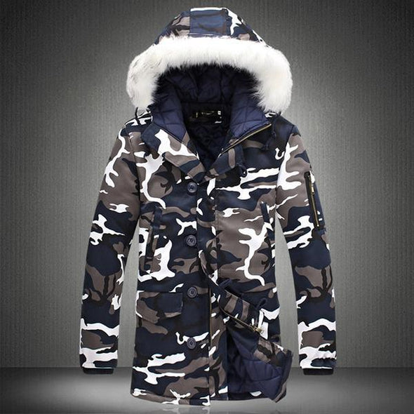 Camouflage Casual Thick Warm Jacket