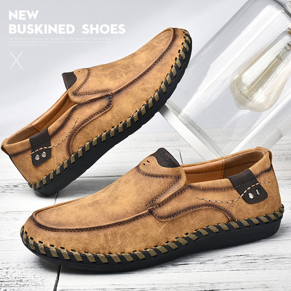 Men Casual Handmade Breathable Slip-On Loafers