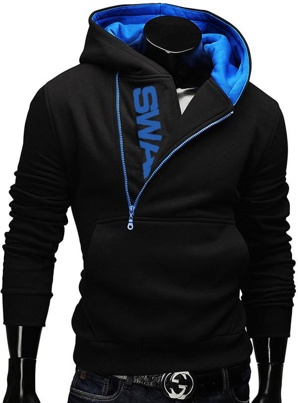 Fashion Zipper Hooded Male Casual Outwear
