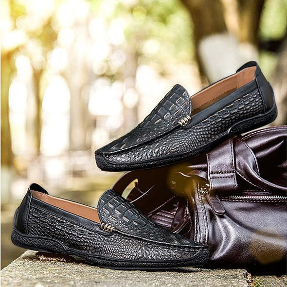 Alligator Fashion Casual Genuine   Men Shoes