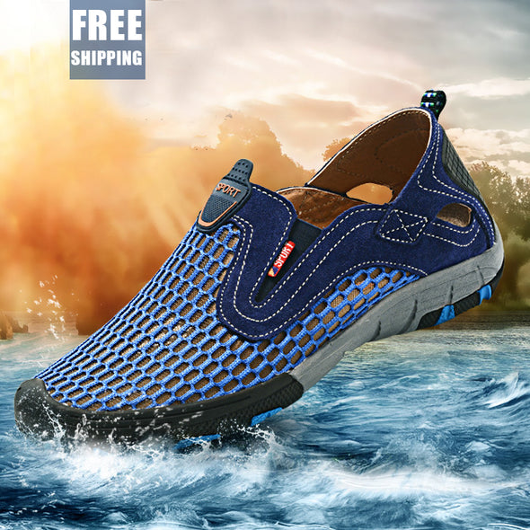 Breathable Men Shoes Summer Slip On Beach Shoes