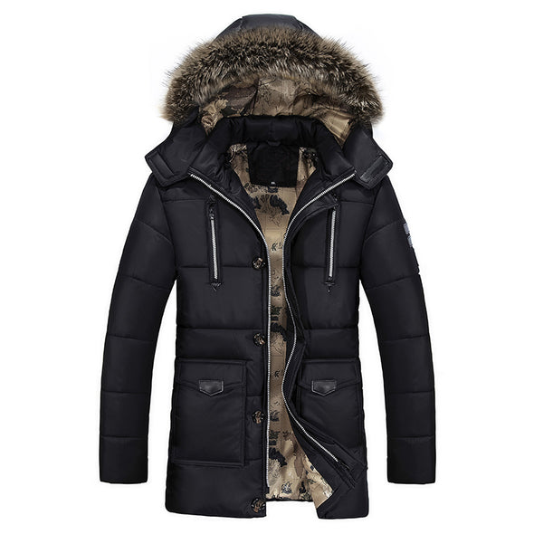 Winter Men Fashion Thermal Hooded Thicken Coat