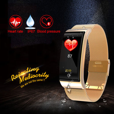Blood Pressure Heart Rate Monitor Men Women Fitness Watch Pedometer Smart Bracelet