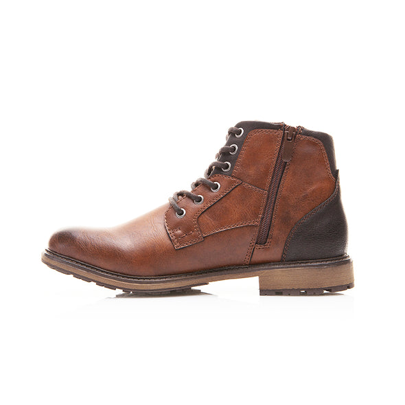 Male's Vintage Style High-Cut Lace-up Boots