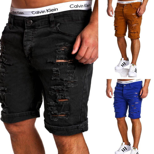 Casual Ripped Holes Shorts