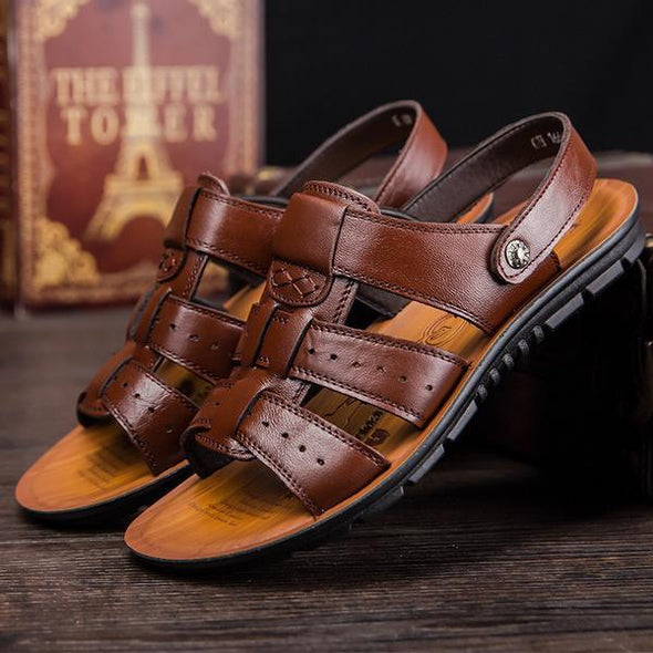 Shoes-Fashion Brand Genuine Men Sandals