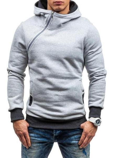 Men's Sportswear Zipper Hooded Jacket