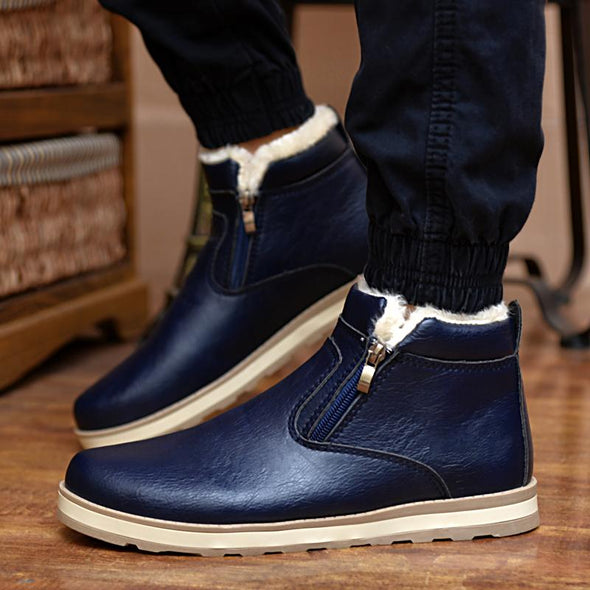 Men's Fashion Solid Warm Winter Snow Boots