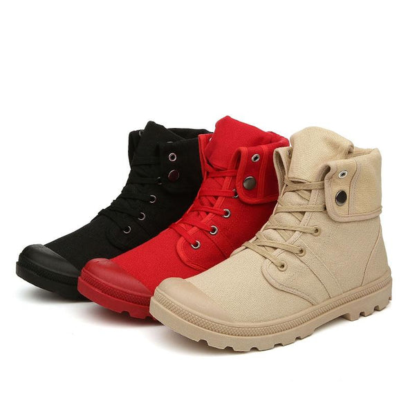 New  High Quality Canvas Fashion Casual Ankle Boots