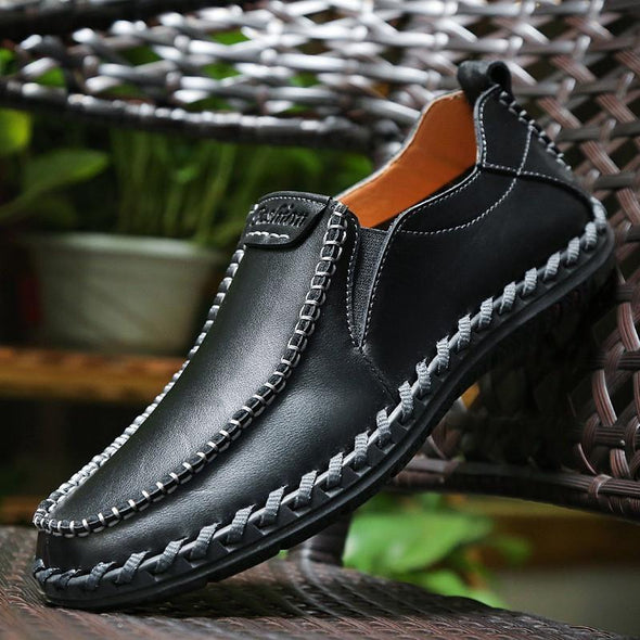 Fashion Cow Split  Luxury Men Loafers