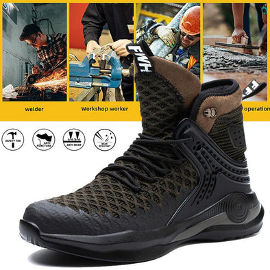 New exhibition Men Steel Toe Safety Shoes