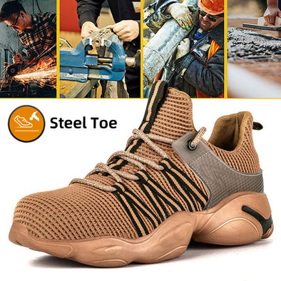 Newest Men Work Safety Steel Toe Shoes