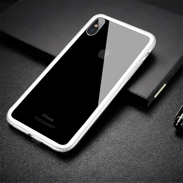 Shockproof PC + Soft TPU Border Frame Case For iPhone X