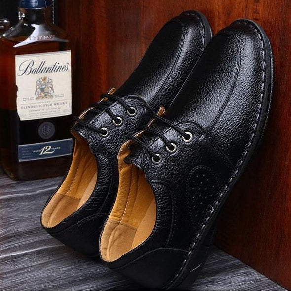 Hot Sale Genuine Men Flats Shoes Hand Sewing Men Oxfords shoes