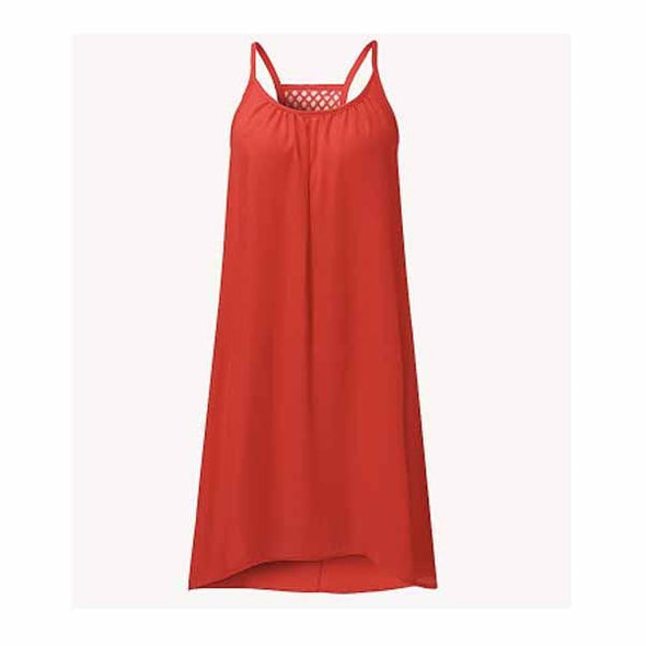 Dress - Casual Sleeveless Strap Backless Beach Dress