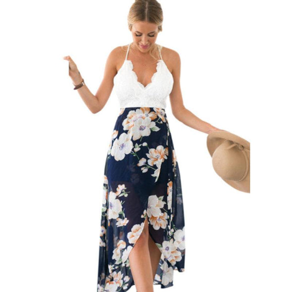 Beach Summer Chiffon Casual Long Maxi Dress