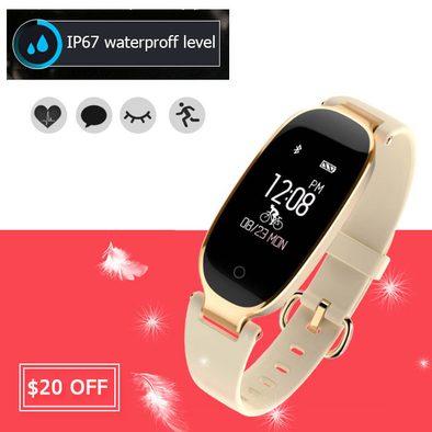 Heart Rate Monitor Bluetooth Smart Watch for Girl