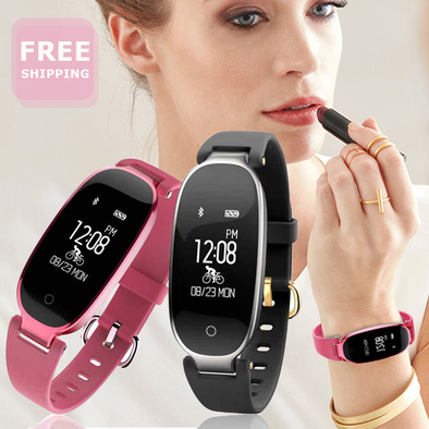 Heart Rate Monitor Bluetooth Smart Watch for Girls