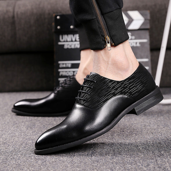 New Fashion Casual Pointed Men's Lace Up Dress Shoes