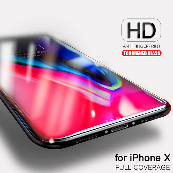 3D Round Curved Edge 9H Tempered Glass For iPhone