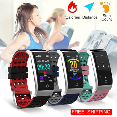 Color Screen Smart heart rate monitor Blood pressure Oxygen Bracelet
