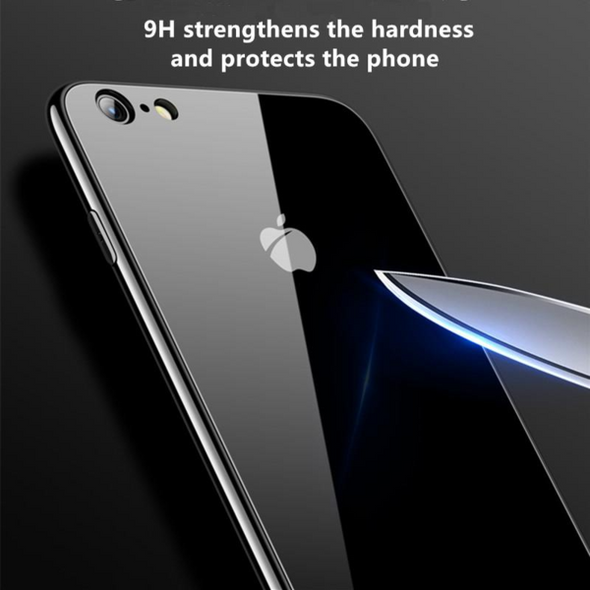 Tempered Glass Phone Case For iPhone X
