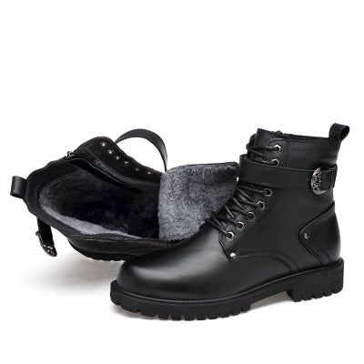Winter high to help large size casual short boots