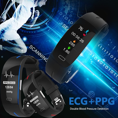 P3 Smart Band ECG+PPG Blood Pressure Heart rate Monitor Fitness Bracelet