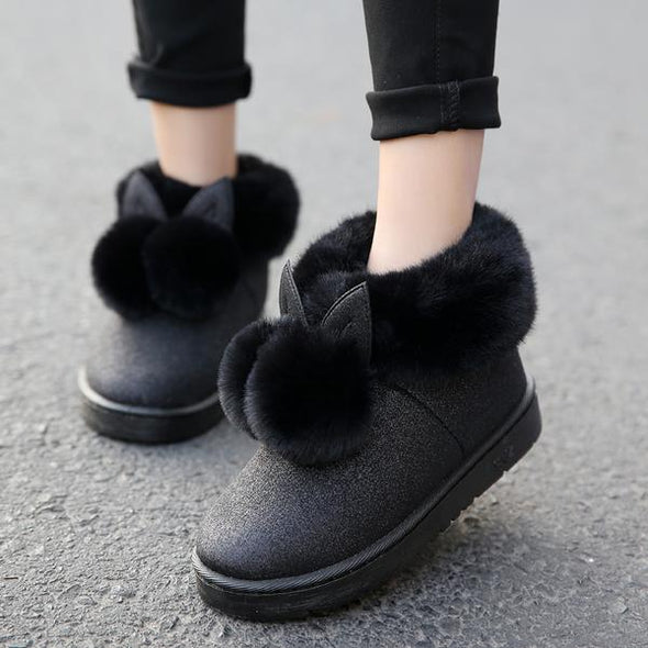 Women's Shoes - Thick Warm Rabbit Ear Lovely Cotton Shoes