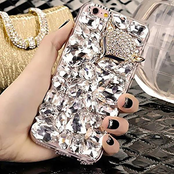 Bling Fox And Crown Soft Phone Case