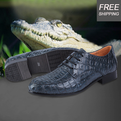 Fashion Plus Size Men  Crocodile Dress Shoes