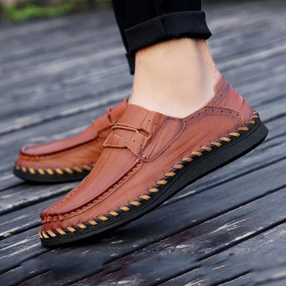 Male Soft Elastic Band Decorative Casual Loafer Oxford Shoes