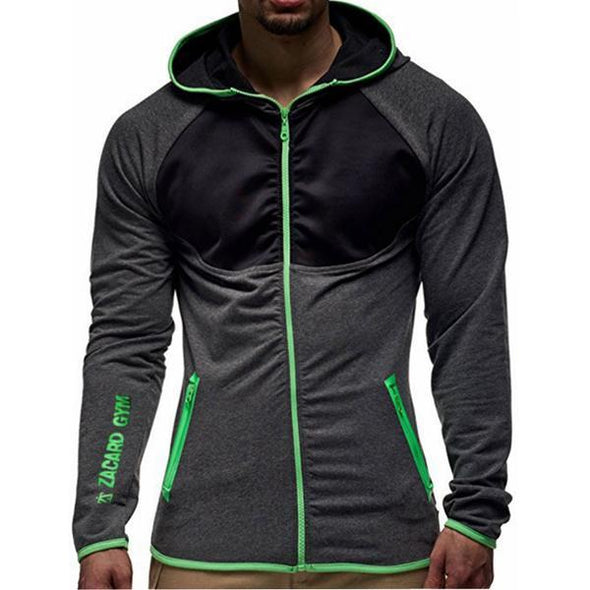 Hoodies - 4 Colors New Men Zipper Gyms Hoodies Leisure Hoody