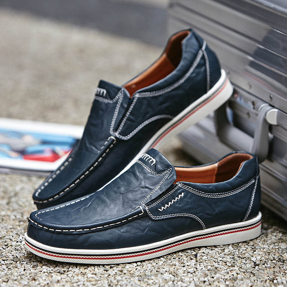 2019 Plus size Men Leather Comfort Casual Shoes