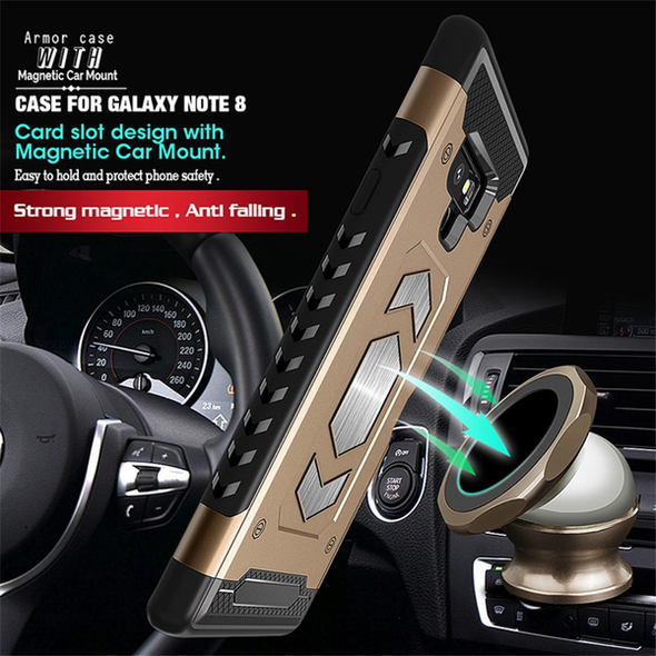 Car Magnetic Suction Bracket Armor Case For Samsung