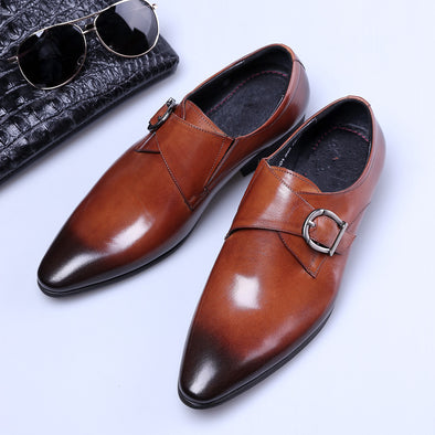 Pointed Toe Fashion PU Leather Business Shoes
