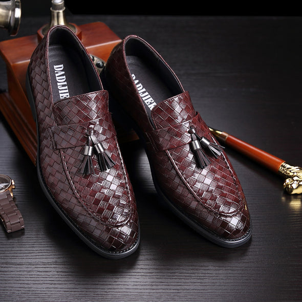 Luxury Tassel Weave Men's Flats