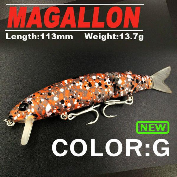 Good fishing lure minnow quality professional bait 11.3cm 13.7g swim bait equipped  hook