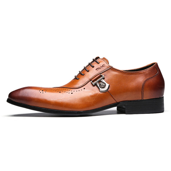 Italian Designer  Genuine Brogue Formal  Dress Shoes