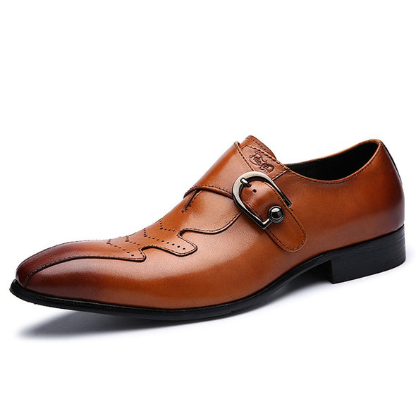 Italian Fashion Genuine Slip On Dress Shoes